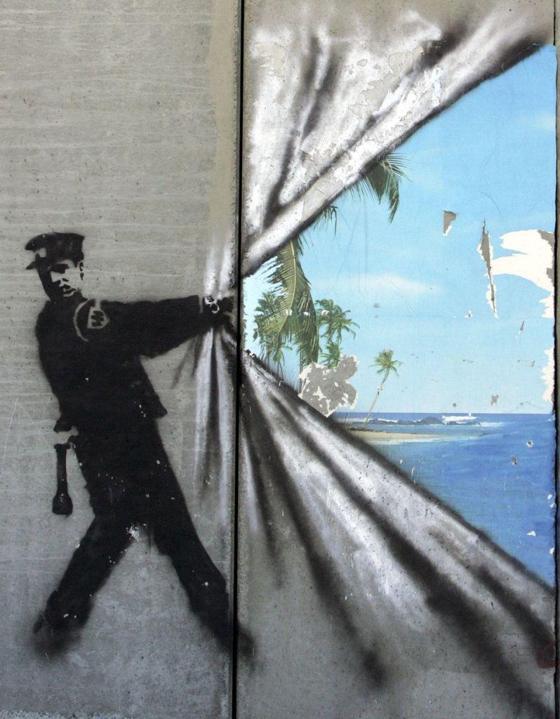 'A little piece of paradise' (1), de Banksy.
