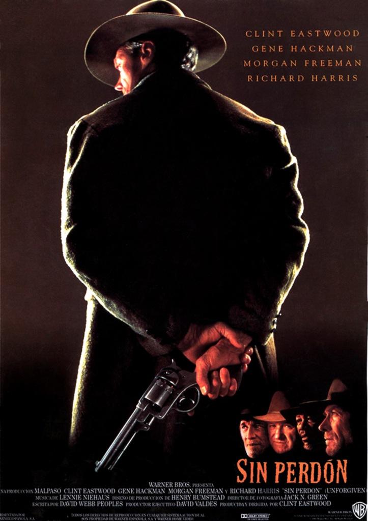 Póster original de 'Sin perdón' (Clint Eastwood, 1992).