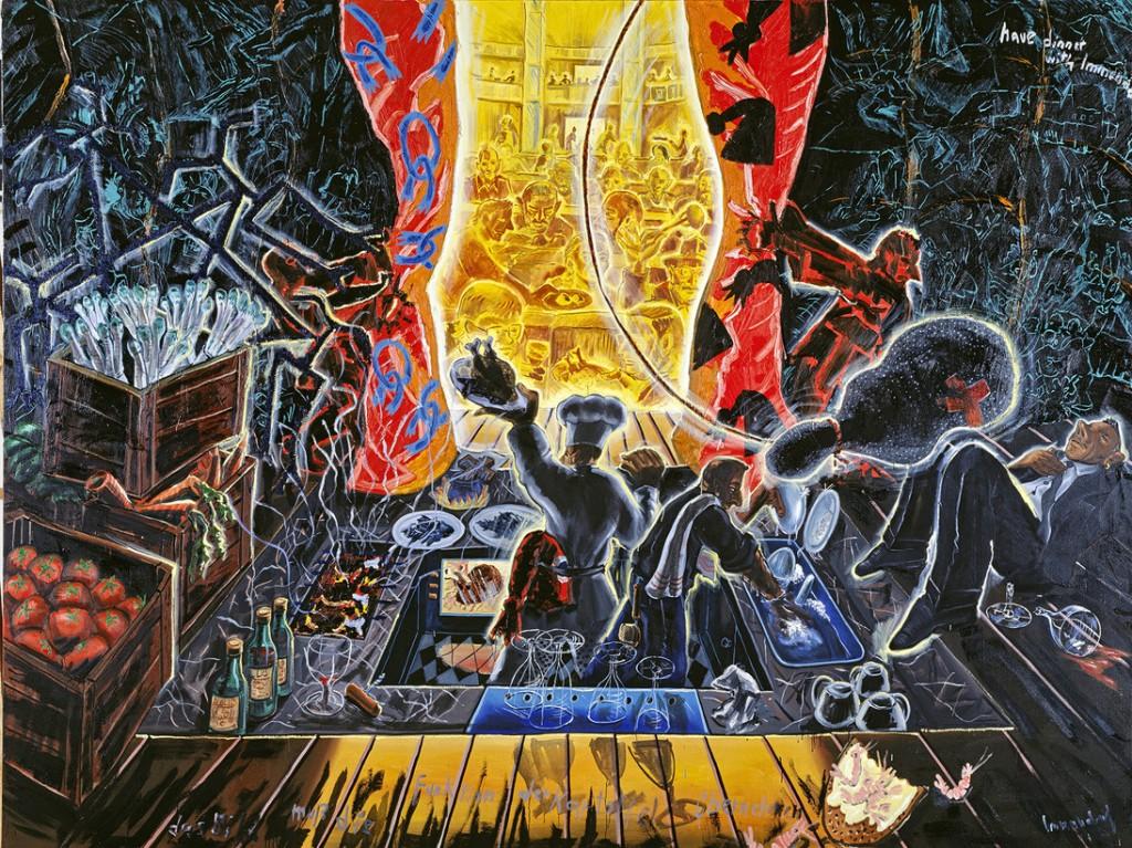 'La imagen debe asumir la función de la patata' (1988), de Jörg Immendorff.
