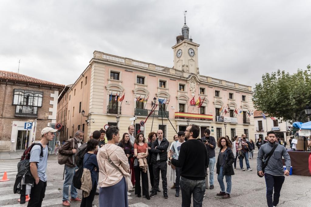 Primera versión de 'Quijotes y Sanchos', representada en Alcalá de Henares en el año 2018. Foto tomada por Luz Soria.